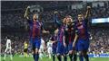 Kết quả Kinh điển: Real Madrid 2-3 Barcelona. Messi lập cú đúp, Ramos thẻ đỏ. Barca cướp ngôi đầu bảng