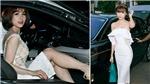 Ngọc Duyên đọ xe cùng Diệp Lâm Anh tại show thời trang của siêu mẫu Vũ Thu Phương