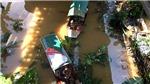 Cận cảnh sông Hồng nước dâng cao cuồn cuộn chảy qua Hà Nội