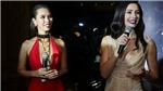 Siêu mẫu Hà Anh 'đọ sắc' cùng Hoa hậu Hoàn vũ 2005 Natalie Glebova