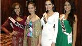 Diễm Hương mặc dạ hội trắng ngày mở màn Miss Universe 2012