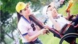 Trần Thị Quỳnh đi bộ vì người khuyết tật