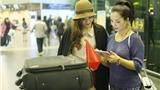 Thúy Hằng, Trương Tùng Lan ra sân bay tiễn Hương Trâm đi thi Hoa hậu