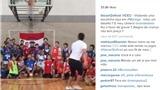 KINH NGẠC: 'Pele futsal' Falcao ghi điểm bóng rổ bằng… chân