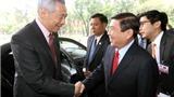 Chủ tịch TP HCM hội kiến Thủ tướng Singapore Lý Hiển Long