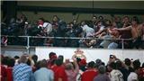 Fan Bayern Munich nổi giận, gây chiến với cảnh sát ngay trên khán đài sân của Real Madrid
