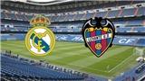 Video clip highlights trận Real Madrid 1-1 Levante