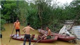 HÌNH ẢNH lũ dâng cao, bãi giữa sông Hồng chìm trong nước