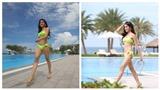 Huyền My rạng rỡ khoe hình thể nóng bỏng với bikini ở Hoa hậu Hòa bình Thế giới 2017