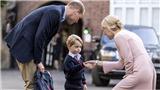 Mẹ ốm, hoàng tử George sợ sệt trong ngày đầu tới trường