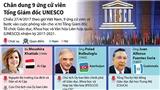 Chân dung 9 ứng cử viên Tổng Giám đốc UNESCO