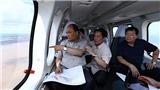Hình ảnh từ trực thăng Thủ tướng Nguyễn Xuân Phúc thị sát Đồng bằng sông Cửu Long