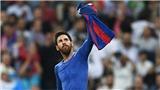 Espanyol 'bắt lỗi' pha ăn mừng của Messi trước trận derby Catalan