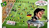 Góc biếm họa World Cup: Đức thảm sát Brazil