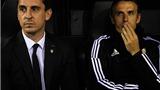 Gary Neville khởi đầu thảm bại ở Valencia, xuống Europa League cùng Man United