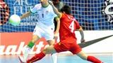 Tuyển futsal Việt Nam không thể vượt vũ môn