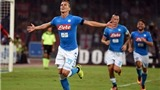 Người thay thế Higuain tỏa sáng, Napoli hạ Milan 4-2