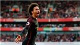 De Bruyne kiến tạo 'siêu ảo' cho Sane sút tung lưới Arsenal