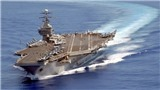 Đang phô diễn sức mạnh 'dọa' Triều Tiên, chiến đấu cơ trên tàu sân bay USS Carl Vinson rơi xuống biển