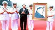 Thủ tướng Nguyễn Xuân Phúc dự Lễ Thượng cờ hai tàu ngầm