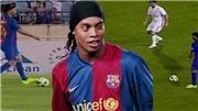 Ronaldinho tái hiện tuyệt chiêu 'lườm rau gắp thịt', Barca lại thắng Real