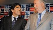 Maradona giơ 'ngón tay thối' với chủ tịch LĐBĐ Argentina