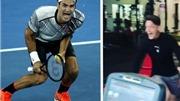 Mesut Oezil ăn mừng quá khích sau khi Federer đánh bại Nadal