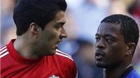 Evra: 'Suarez vẫn chưa xin lỗi tôi. Tôi sẽ bị treo giò 3 năm nếu đấm Suarez'