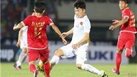 VIDEO: Xuân Trường 'làm xiếc' với cầu thủ Myanmar