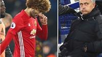 Mourinho suýt ngất vì cú sút trúng đầu của... Fellaini