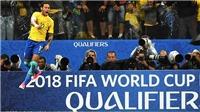 Neymar sánh ngang Pele. Brazil là đội đầu tiên giành vé dự World Cup 2018