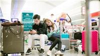 Hương Giang Idol ngủ gục bên vai Hà Anh tại sân bay