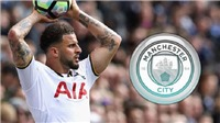 NÓNG: Man City đồng ý mua Kyle Walker của Tottenham với giá 50 triệu bảng