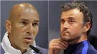 HỌ ĐÃ NÓI, Zidane: 'Real thua vì không thể kiểm soát Messi', Enrique: 'M10 có thể tạo khác biệt ngay khi ăn tối'