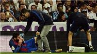 Trong vòng 4 ngày, Messi hai lần nằm sân, đổ máu vì bị chơi xấu