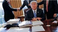 Bức vẽ chơi của Tổng thống Donald Trump bất ngờ 'được giá'