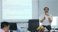 Lãnh đạo các bệnh viện tham quan mô hình quản lý tại Bệnh viện ĐK thành phố Vinh