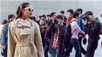 Hoa hậu Phạm Hương nổi bật trên đường phố Seoul Fashion Week