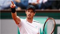 Vòng 3 Roland Garros 2017: Murray thắng đầy thuyết phục trước Del Potro