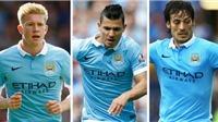 Man City áp đảo ở đội hình tiêu biểu Premier League từ đầu mùa