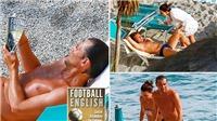 Conte khoe body chuẩn bên bãi biển, vẫn không quên nhiệm vụ ở Chelsea