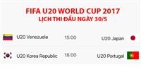 TRỰC TIẾP FIFA U20 World Cup 2017: U20 Venezuela - U20 Nhật Bản (15h00); U20 Hàn Quốc - U20 Bồ Đào Nha (18h00)