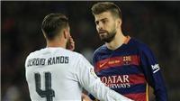 Đấu khẩu trên sân chưa đủ, Pique và Ramos tranh thủ họp báo... chửi nhau tiếp