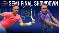 TENNIS ngày 8/9: Nadal gửi 'tối hậu thư' tới Del Potro. Venus dừng bước tại Bán kết US Open