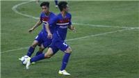 Công Phượng ghi bàn và kiến tạo trong trận đấu tập của U22 Việt Nam