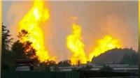 VIDEO: Đường ống khí đốt Trung Quốc phát nổ, bốc cháy dữ dội, nhiều thương vong