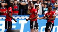 ĐIỂM NHẤN Swansea 0-4 M.U: Lukaku và Pogba đắt xắt ra miếng. Mkhitaryan phản công lợi hại.