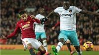 Man United 1–1 West Ham: 'Quỷ đỏ' hòa trận sân nhà thứ 4 liên tiếp