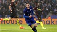 Leicester City 4-2 Man City: Vardy lập hat-trick, Man City thua tan tác