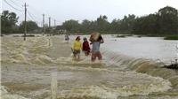 Bình Định: Mưa lũ làm một người chết, nhiều địa phương bị chia cắt
